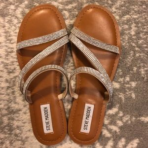 Brand new jeweled sandals